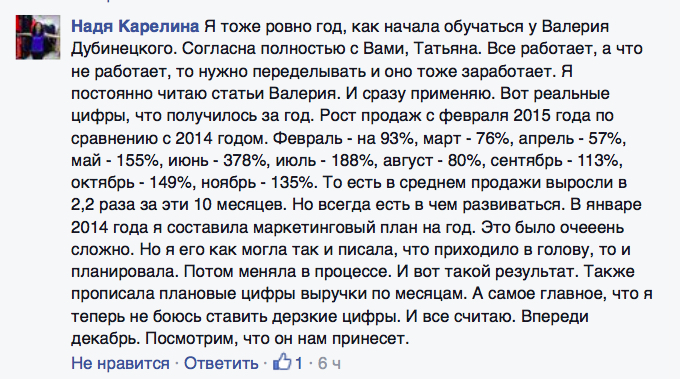 Отзыв Надя Карелина